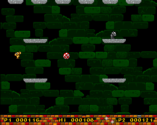Screenshot: Downfall  game screen - Amiga game, png image